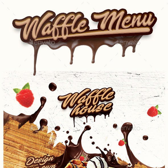 Waffle Menu