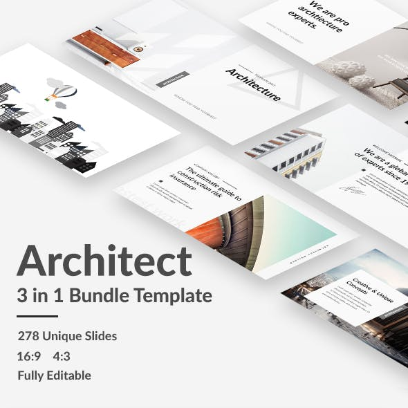Architecture Bundle - 3 in 1 Keynote Template