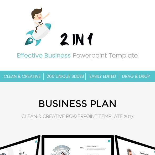 Bundle 2 in 1 Effective Business Powerpoint Template