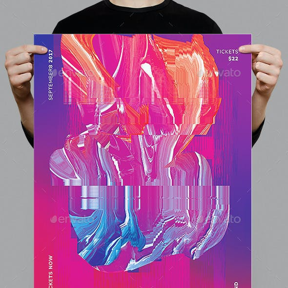Glitch Poster / Flyer Template