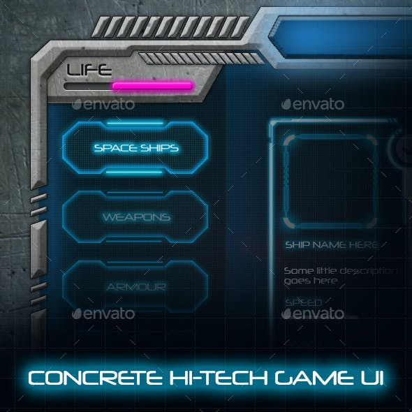 Concrete Hi-Tech Game UI