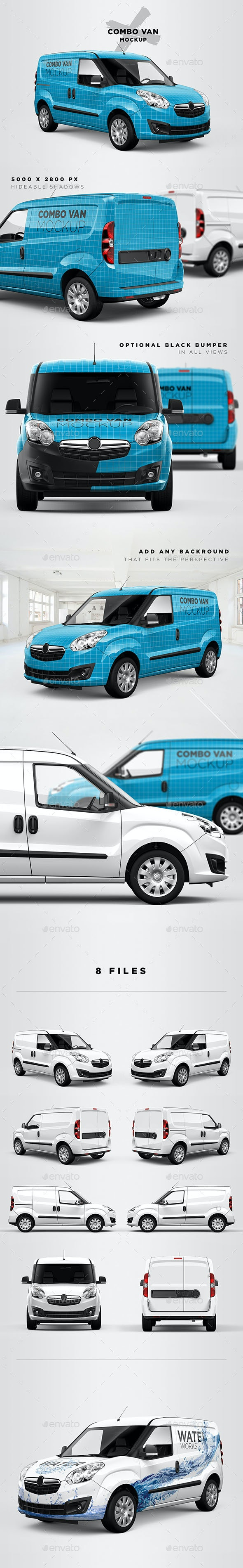 Combo Panel Van Mockup - Vehicle Wraps Print