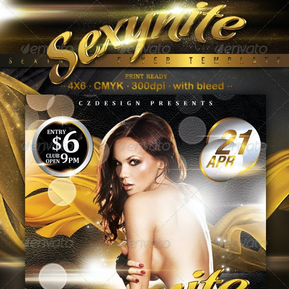 Sexynite Flyer Template