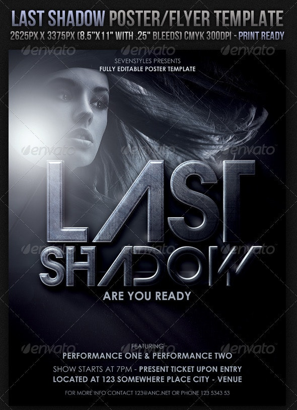Last Light Poster/Flyer Template - Clubs & Parties Events