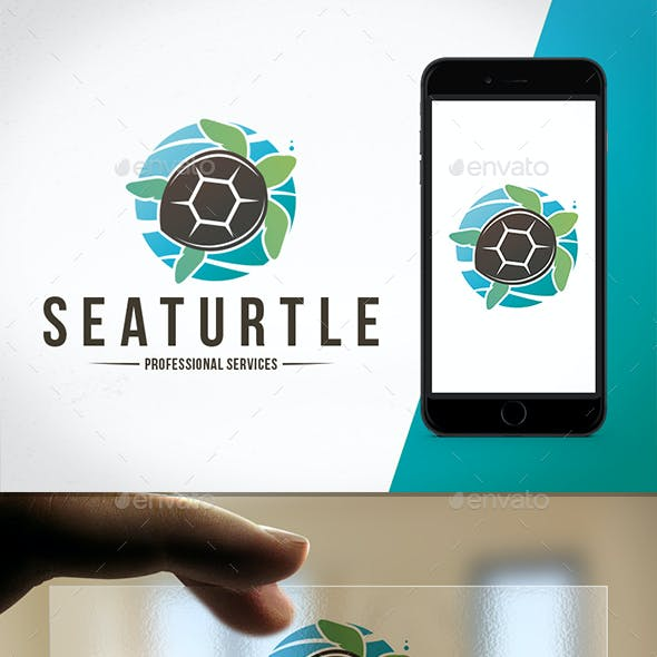 Sea Turtle Colorful Logo