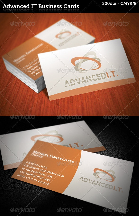 Advanced IT Business Cards - Corporate Business Cards