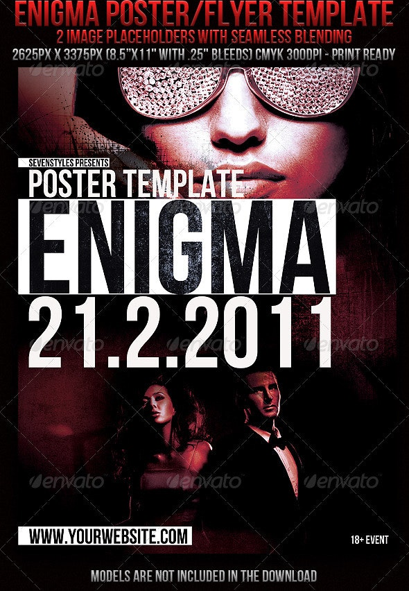 Enigma Poster/flyer Template - Clubs & Parties Events