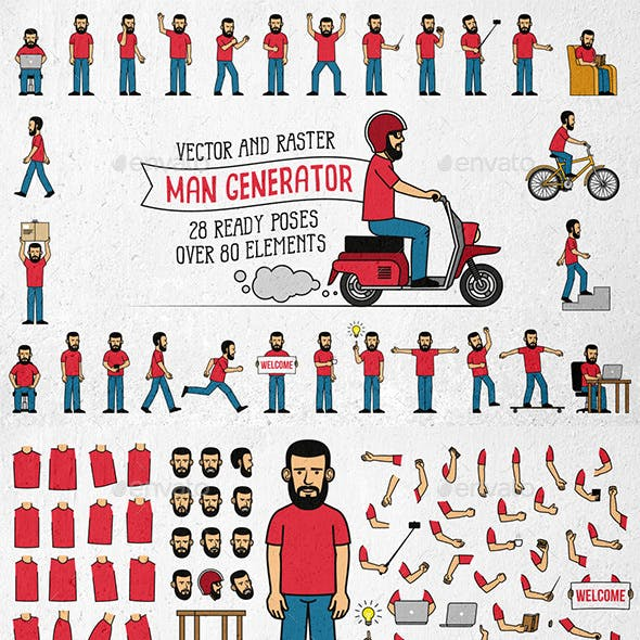 Bearded Man Generator