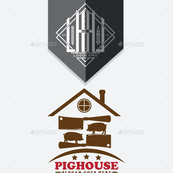 Pork Restaurant Logo