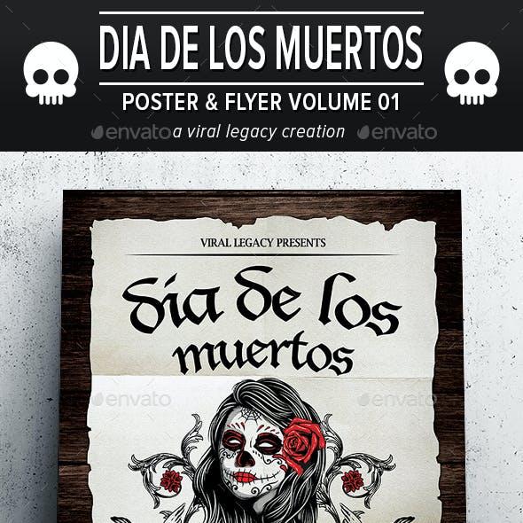 Dia De Los Muertos Poster / Flyer V01