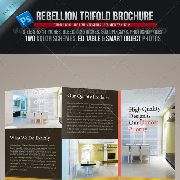 Rebellion Trifold Brochure - PSD Template