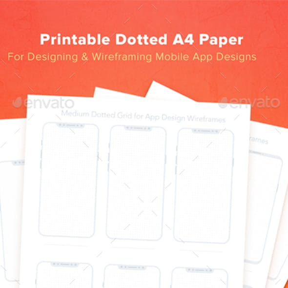 Printable Dotted A4 Paper with Bezel Less Smartphone