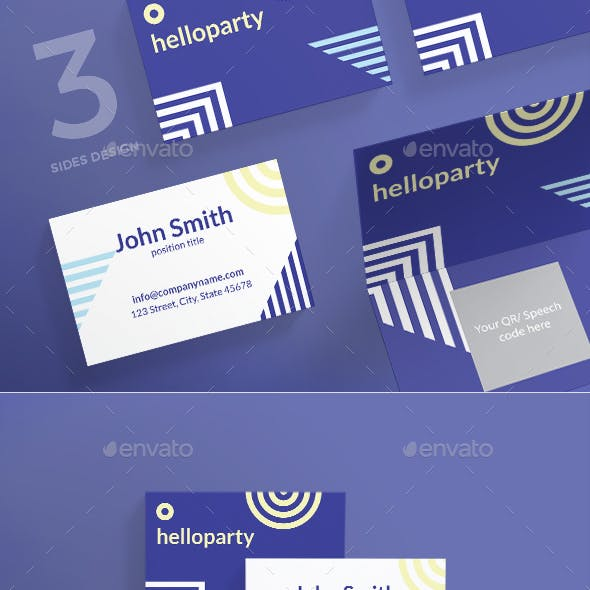 Hello Party Business Card by ambergraphics