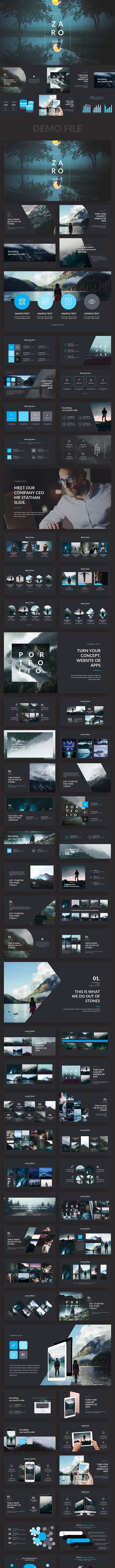 Zaro Premium Powerpoint Template - Creative PowerPoint Templates