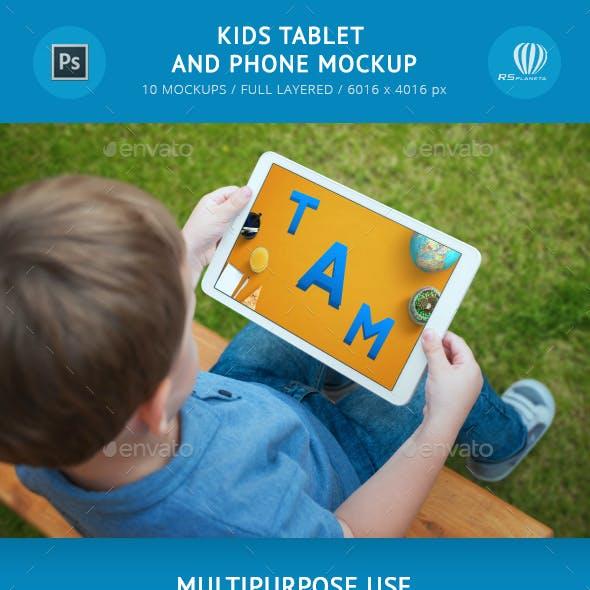 Kids Tablet and Phone Mockup