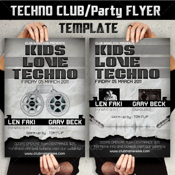 Techno Party/Club Flyers template