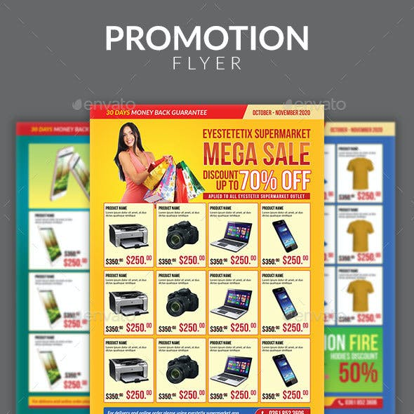 Multipurpose Promotion Sale Flyer Template