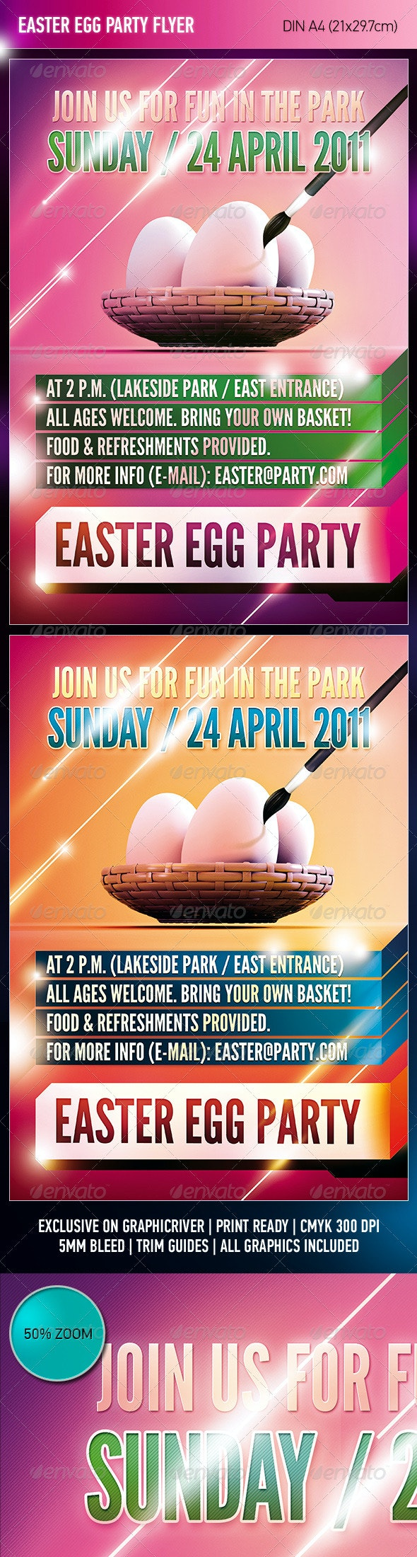 Easter Egg Party Flyer - Clubs & Parties Events