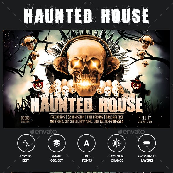 Hunted House Flyer