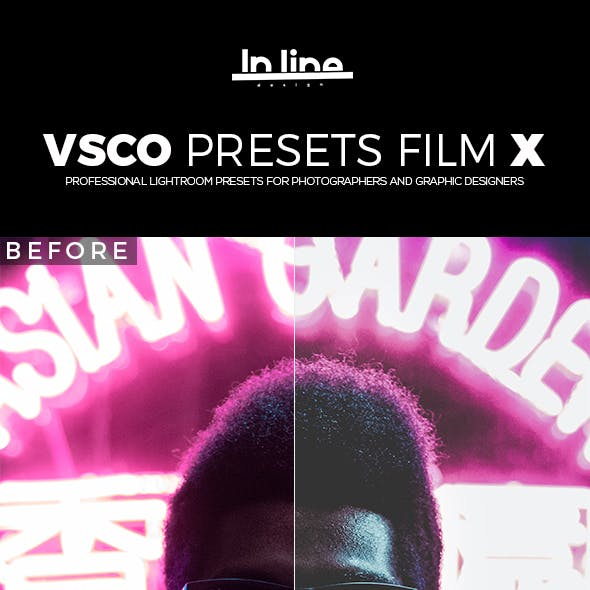 20 VSCO FILM X Lightroom Presets