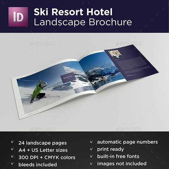 Ski Resort Hotel Landscape Brochure