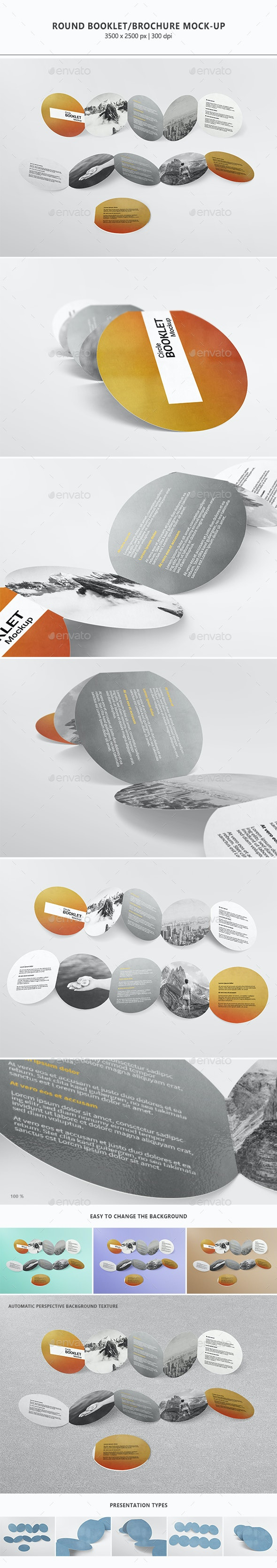 Round Booklet / Brochure Mock-up - Miscellaneous Print