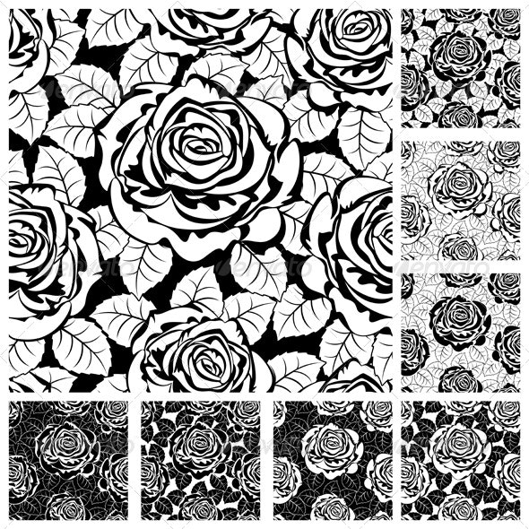 Seamless from roses. - Flowers & Plants Nature