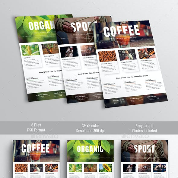 Design of universal flyer templates