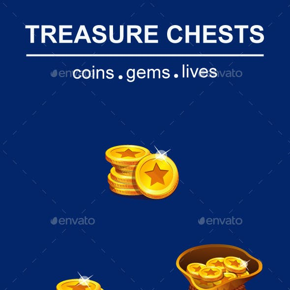 Coins with Gems and Lives Game Pack