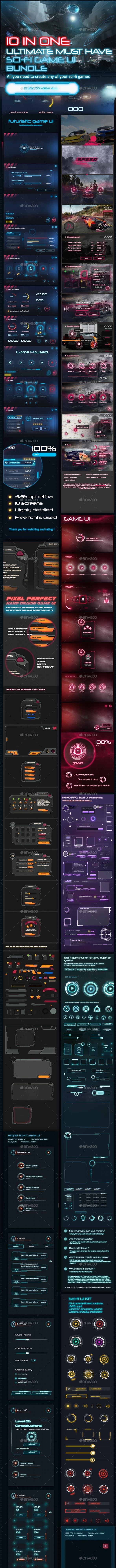 10 in 1 Ultimate Sci-Fi UI Bundle
