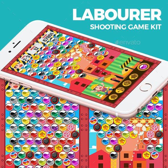 Flat Laborer Shooting Game Kit