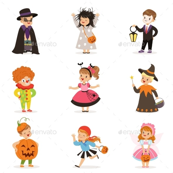 Kids in Different Colorful - Seasons/Holidays Conceptual