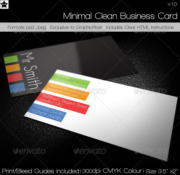 Minimal Clean Business Card - Corporate Business Cards