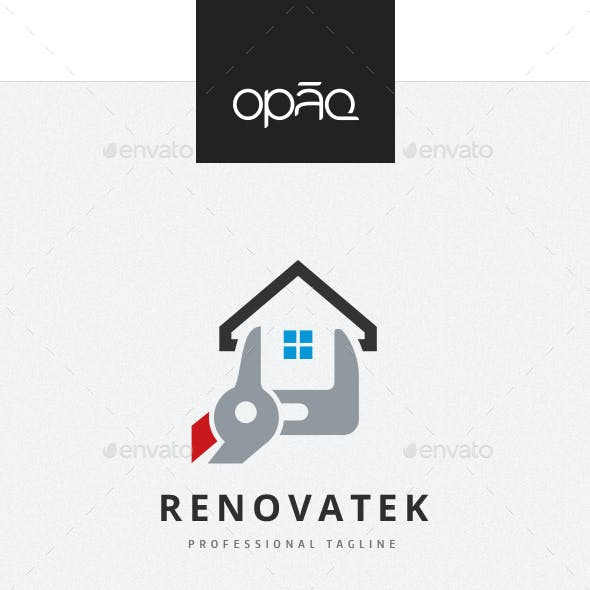 House Construction Renovation Logo
