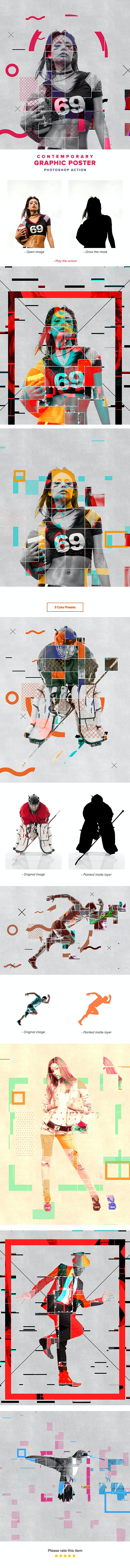 Contemporary Graphic Poster Action - Photo Effects Actions