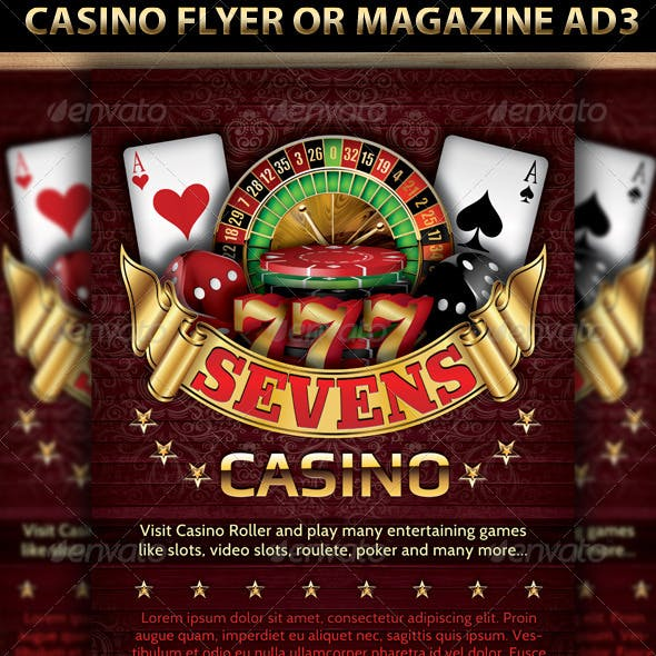 Casino Magazine Ads or flyers Templates 4