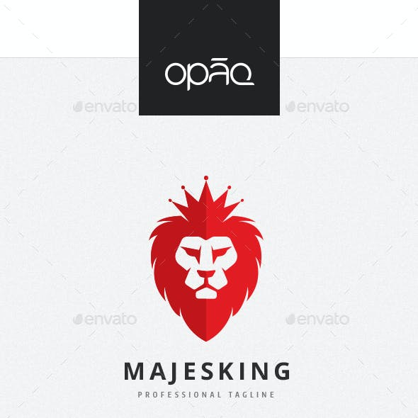 Majestic King Lion Logo