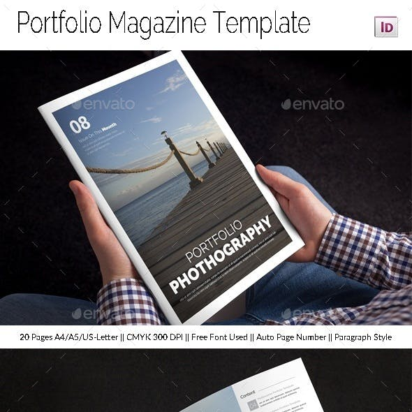 Portfolio Magazine Template