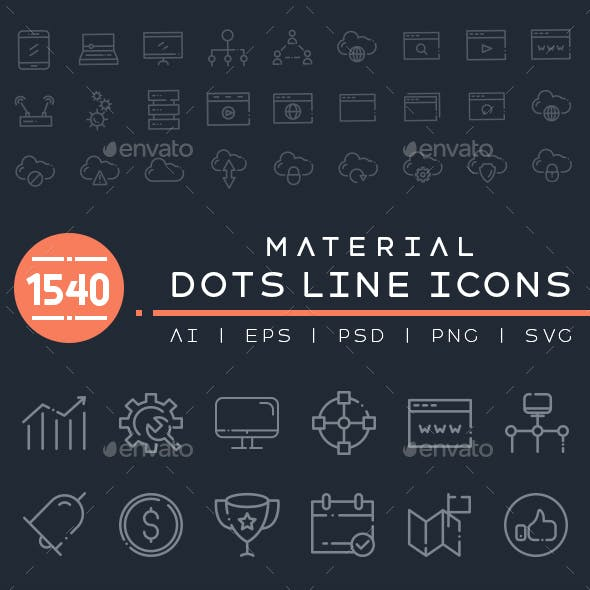 1540 Material Dots Line Icons