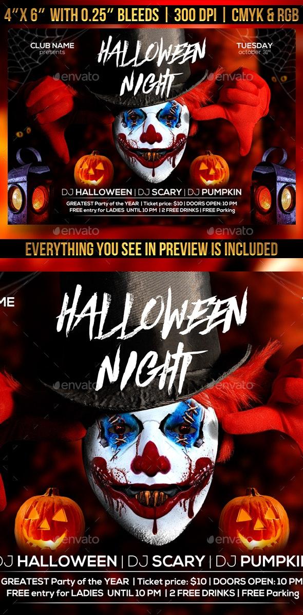 Halloween Night Flyer - Clubs & Parties Events
