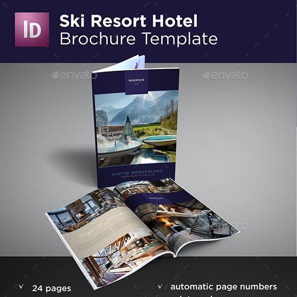 Ski Resort Hotel Brochure Template