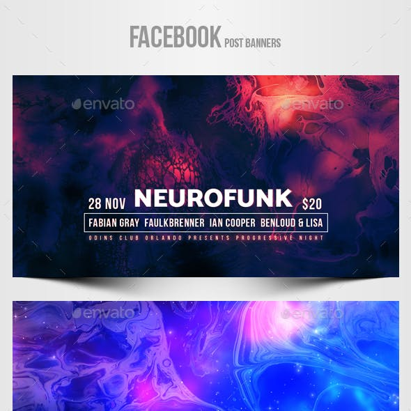 Electronic Music Party vol.33 - Facebook Post Banner Templates