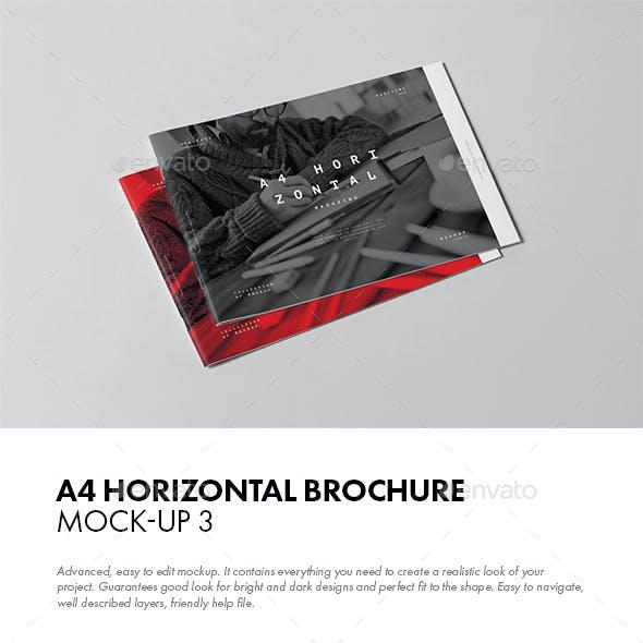 A4 Horiozontal Brochure Mock-up 3