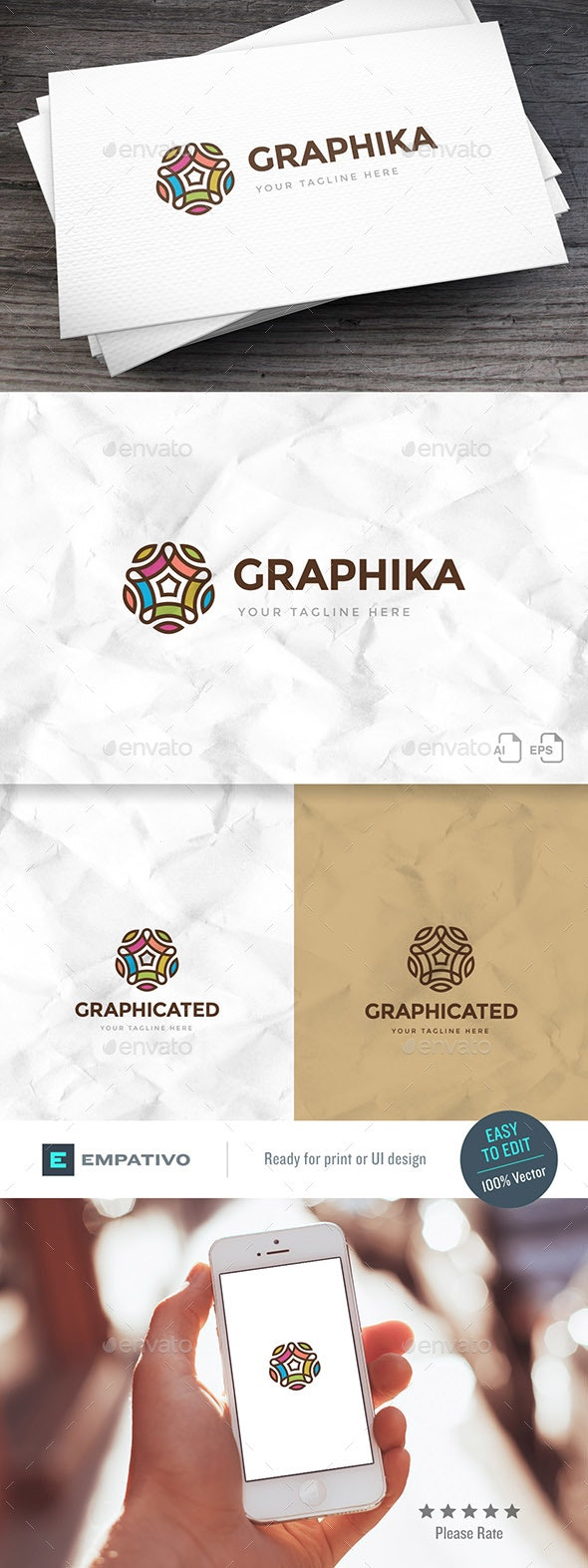 Graphicated Logo Template - Abstract Logo Templates