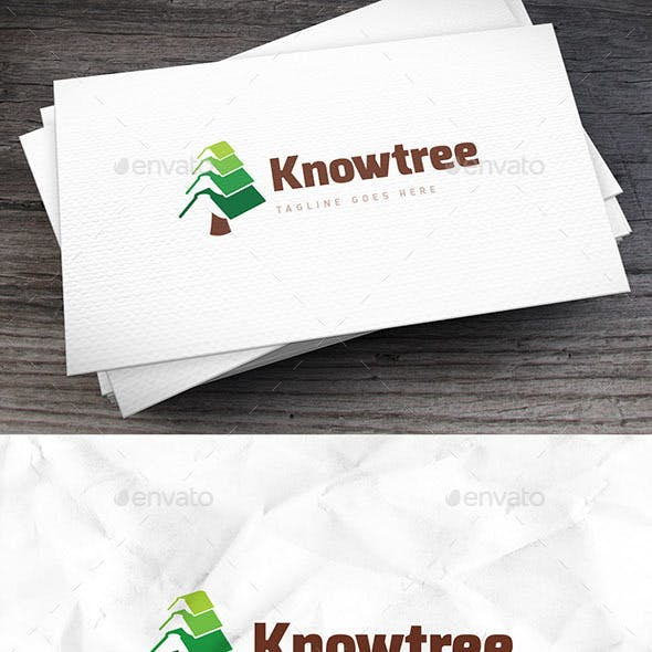 Knowtree Bookstore Logo Template