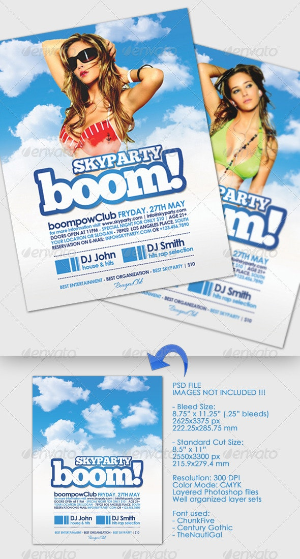 Boom Skyparty Flyer - Clubs & Parties Events