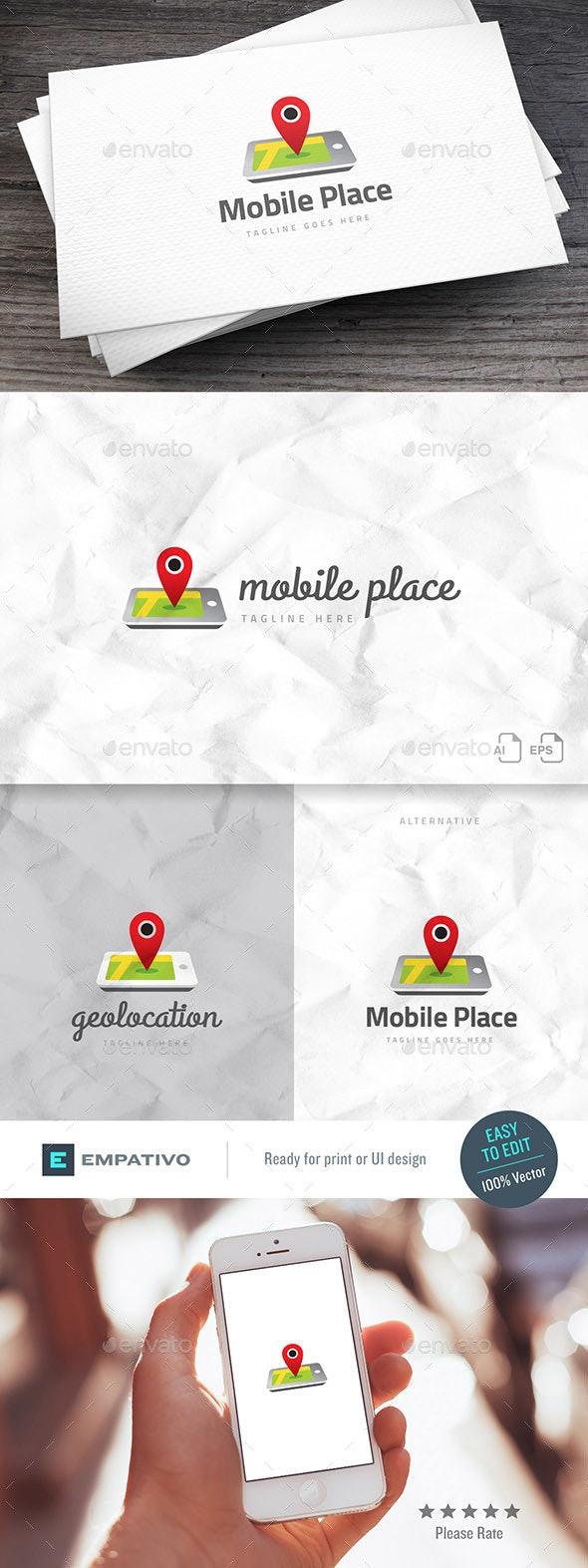 Mobile Place Logo Template - Objects Logo Templates