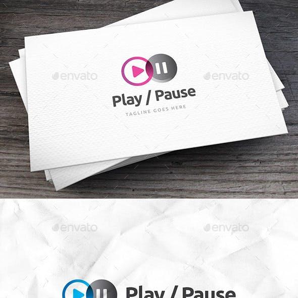 Play Pause Logo Template