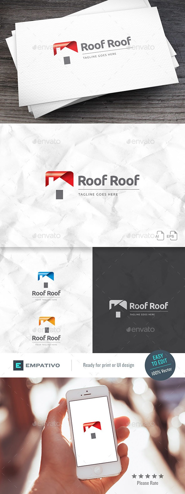 Roofroof Real Estate Logo - Buildings Logo Templates