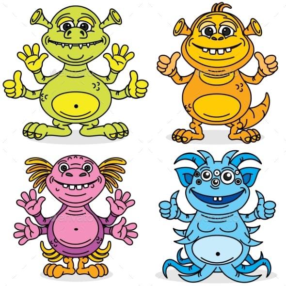 Friendly Cartoon Monsters
